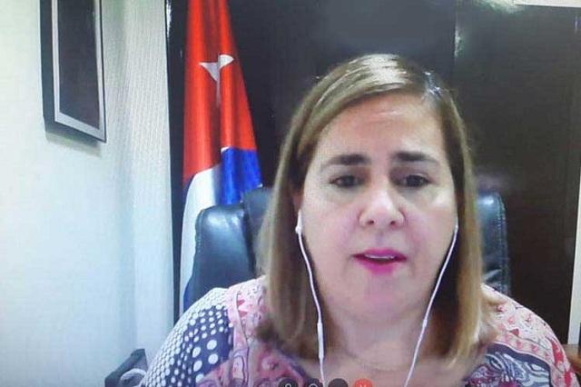 Representante permanente alterna de Cuba ante el organismo multilateral, Ana Silvia Rodríguez.