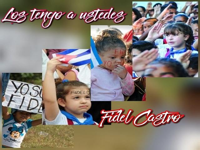 Fidel veía en los niños el futuro de la Revolución.