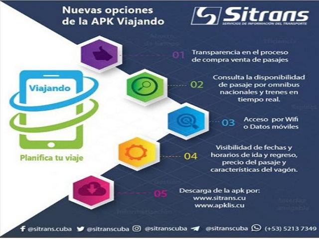 Viajando: nueva aplicación para la venta online de pasajes en Cuba.