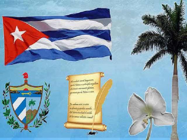 Respeto a los símbolos patrios de la nación cubana.