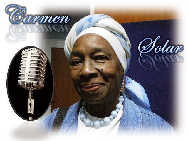 Carmen Solar, artista de mérito de la radio y la televisión cubana.