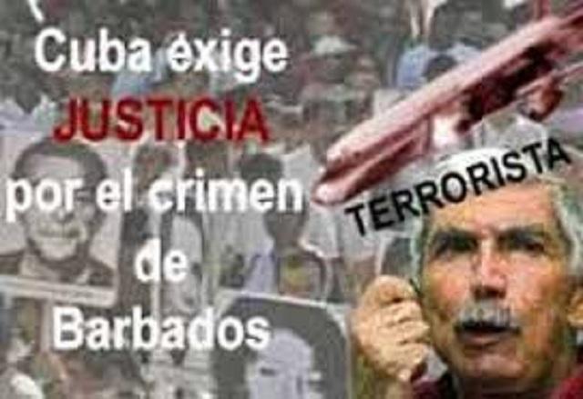 Cuba recuerda a víctimas del crimen de Barbados