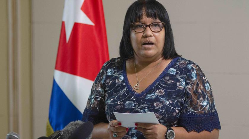 Viceministra cubana de Relaciones Exteriores, Anayansi Rodríguez Camejo