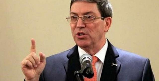Bruno Rodríguez Parrilla, Ministro de Relaciones Exteriores de Cuba.