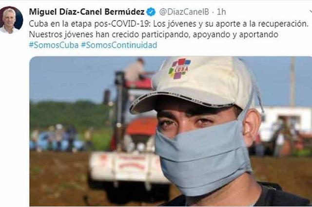 Presidente de Cuba destaca papel de los jóvenes contra Covid-19