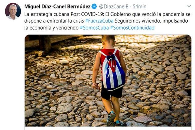 Ratifica Díaz-Canel confianza en triunfo de Cuba sobre la adversidad