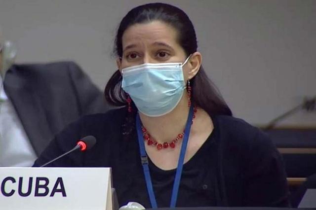 Diplomática cubana Lisandra Astiasaran.