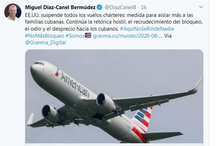 Presidente de Cuba rechaza retórica hostil de Estados Unidos