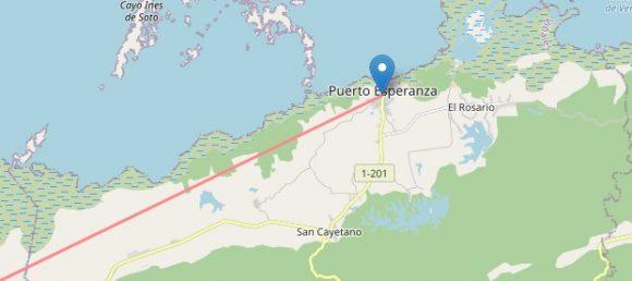 Laura salió al mar por las inmediaciones de Puerto Esperanza