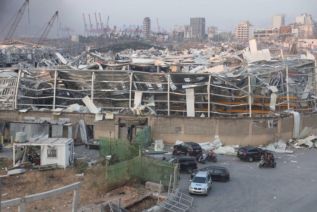 Explosiones en el puerto de la capital Beirut