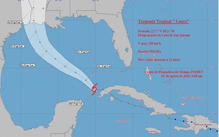 Laura se aleja del occidente. Cuba atenta a marejadas y lluvias.