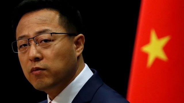 Zhao Lijian, portavoz del Ministerio de Exteriores de China.