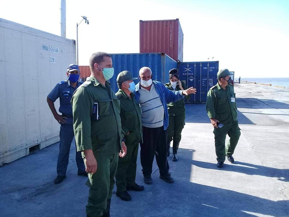 El recorrido estuvo dirigido fundamentalmente a los almacenes del puerto de Batabanó