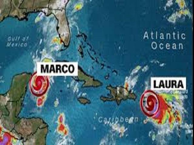 Tormenta tropical Laura se aproximará a Cuba y Marco se intensifica ligeramente