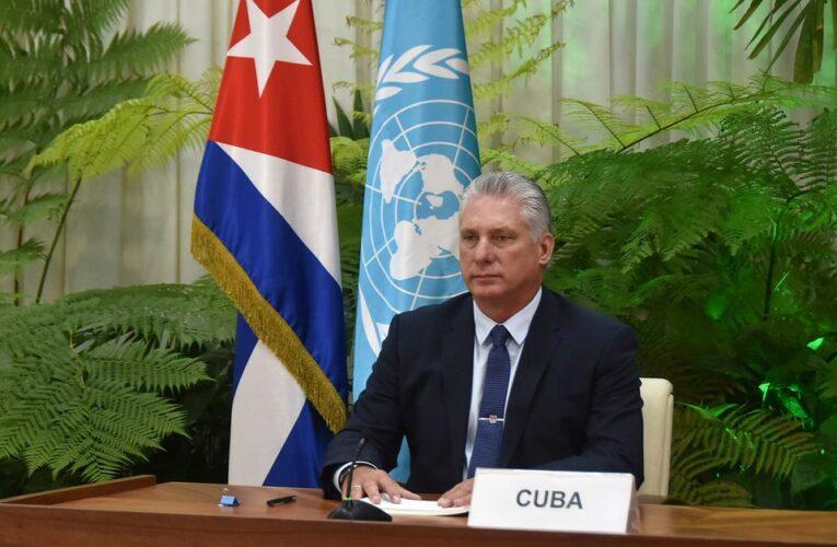 Intervención de Miguel Díaz-Canel Bermúdez en el Debate General del 75 Período Ordinario de Sesiones de la Asamblea General de Naciones Unidas