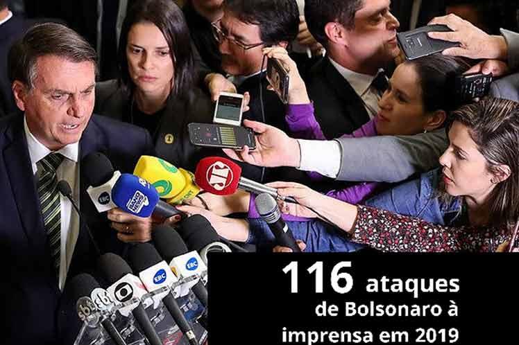 Ataques a periodistas en Brasil afectan información sobre Covid-19.