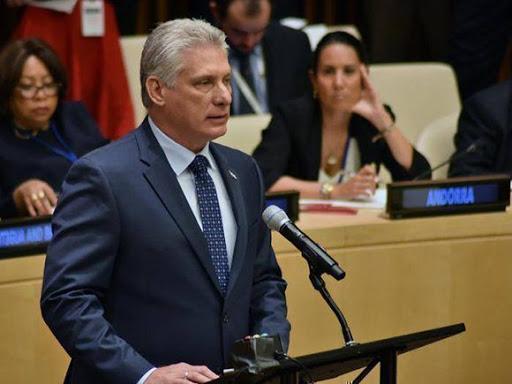 Presidente cubano Miguel Diaz Canel en la ONU. Foto.CP