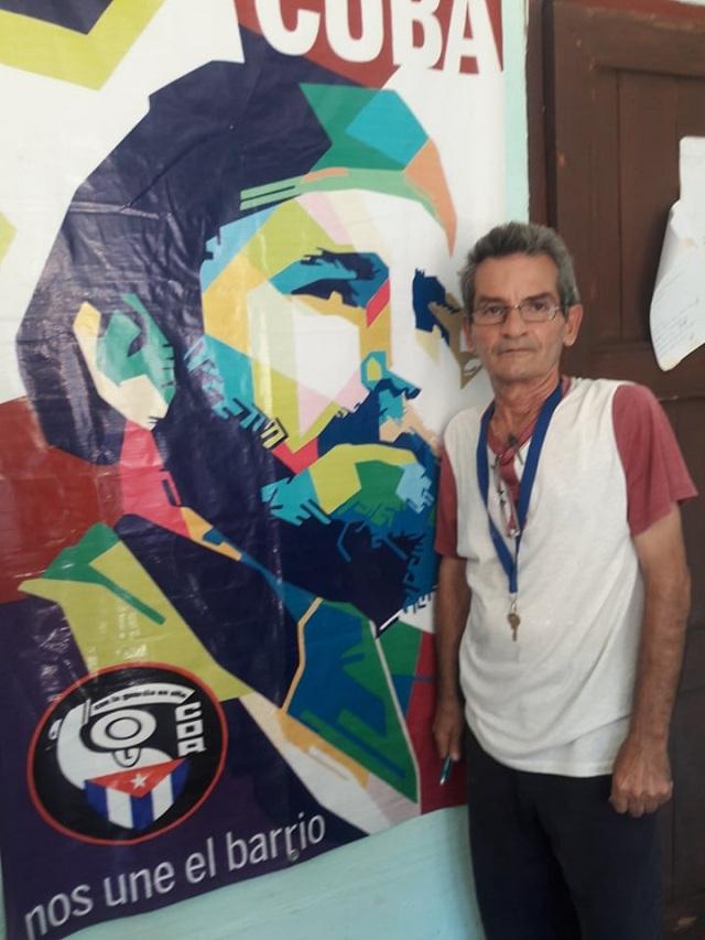 Gerardo Jesús Cruz Onel, por más de 20 años Presidente de un Comité de Defensa de la Revolución.