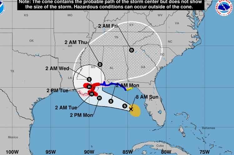 Avanza tormenta tropical Sally por la costa suroeste de la Florida.