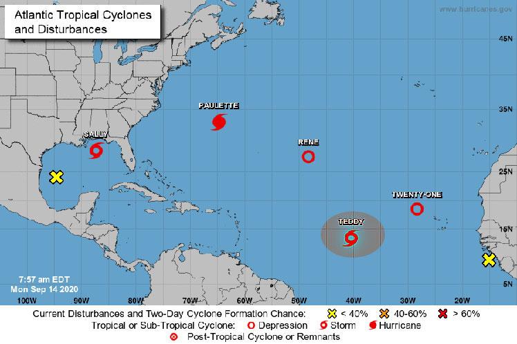 Nueva tormenta tropical Teddy