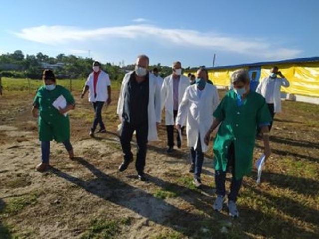 La visita inició por el municipio de San Luis. Foto: Twiter