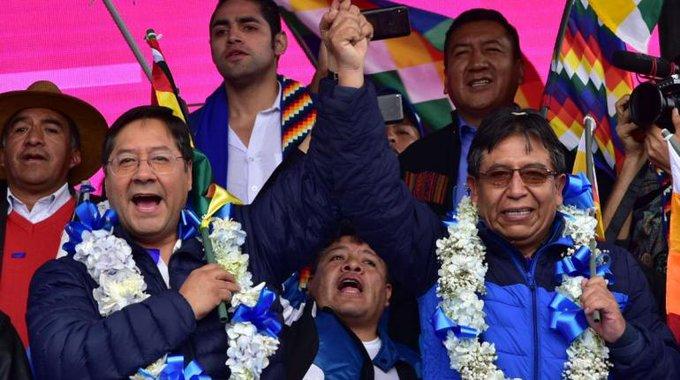 Movimiento al Socialismo gana elecciones en Bolivia