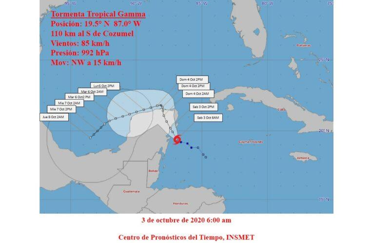 Aviso No. 4 de Ciclón Tropical Gamma