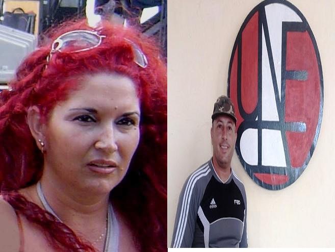 La poetisa Nuris Quintero Cuellar y el compositor Jorge del Valle, ambos de Mayabeque.
