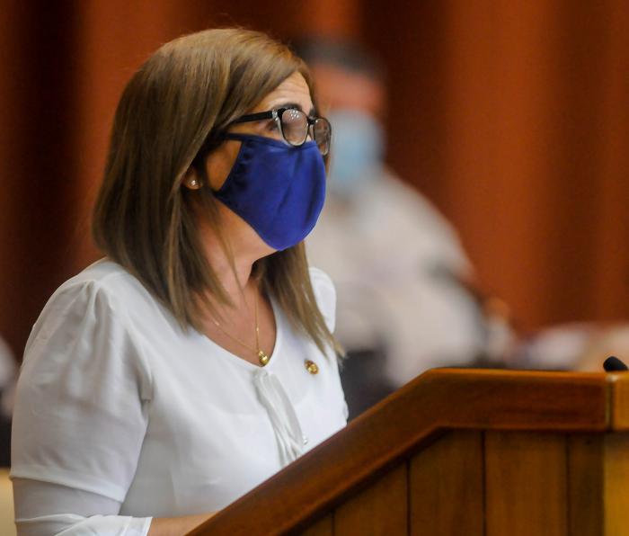 La ministra de Finanzas y Precios, Meisi Bolaños Weiss. Foto: Granma