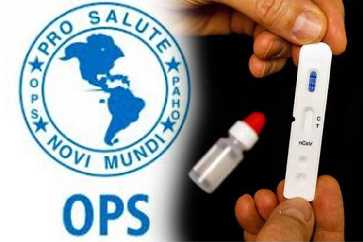 Organización Panamericana de la Salud entregará test rápidos para detección de Covid-19.