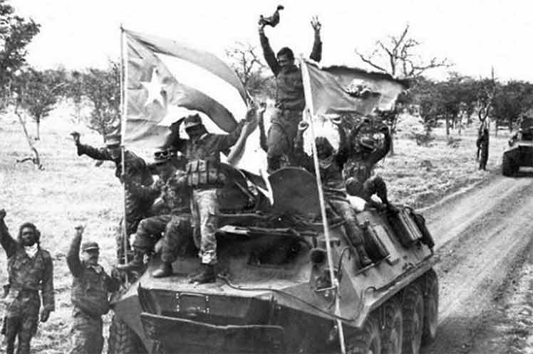 Epopeya cubana en Angola.