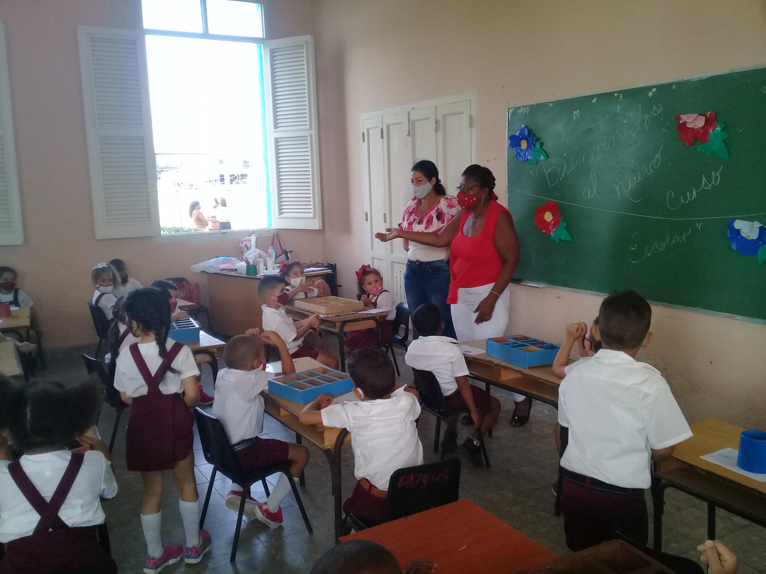 Los que inician su andar por el sistema educacional cubano.
