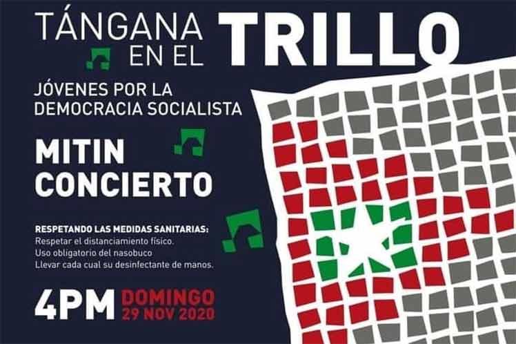 Jóvenes en Cuba realizarán concierto en defensa del socialismo.