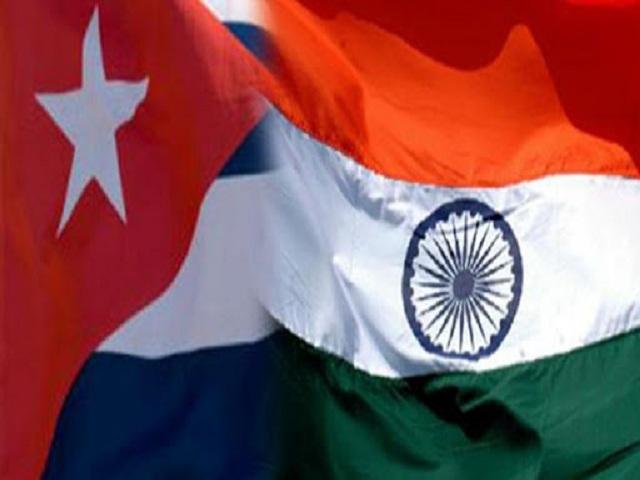 India y Cuba cancelan sello por 60 años de relaciones.