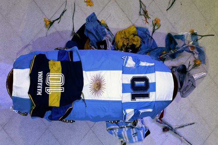 Homenaje a Maradona. Foto: Prensa Latina.
