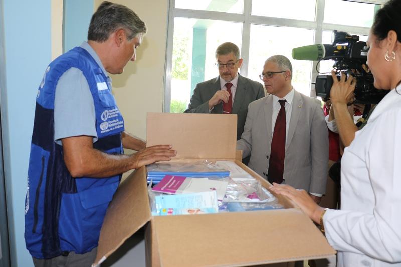 Entregan a escuelas cubanas donativo de la OPS/OMS.