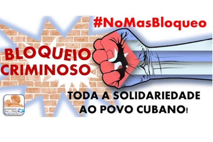Asociación cultural de amistad condena en Brasil bloqueo a Cuba