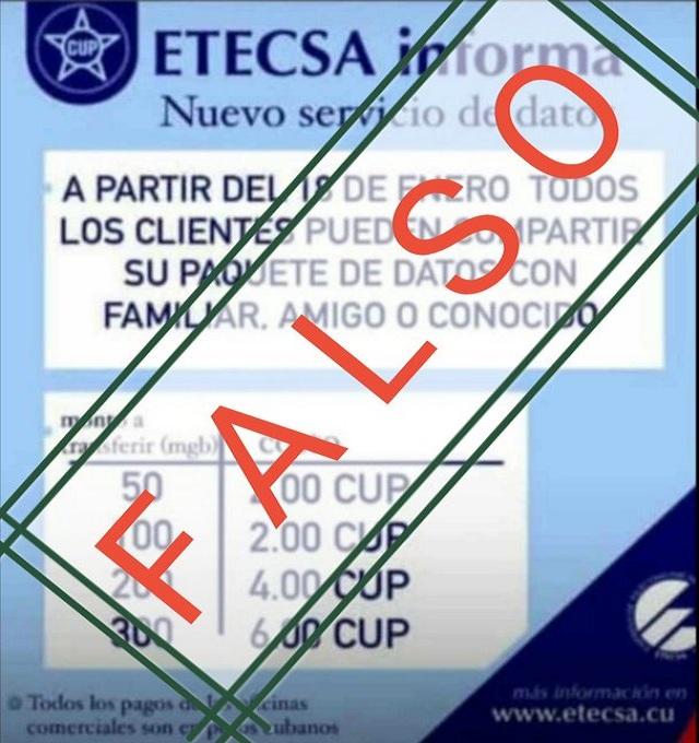Etecsa alerta sobre promociones falsas de sus servicios.
