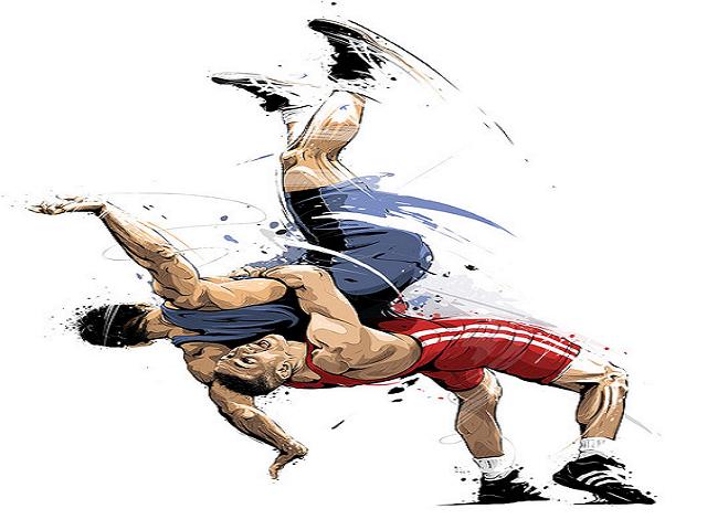 Lucha Libre. Ilustración.