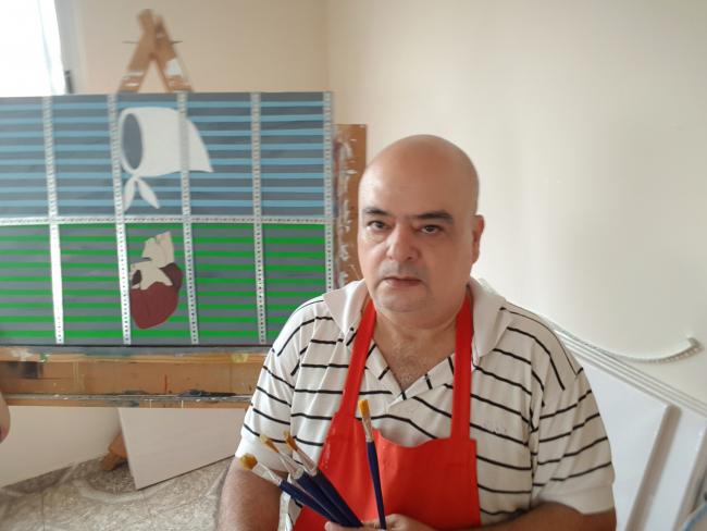 Artista argentino de la plástica Cesar Daniel Garnica García.