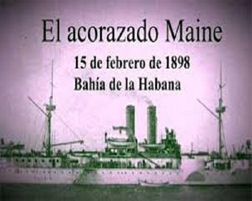 Clara provocación del imperio por quitar a España del camino y dominar a Cuba.