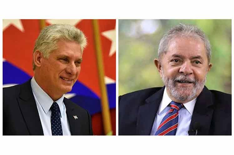 Presidente de Cuba exalta valores revolucionarios de Lula