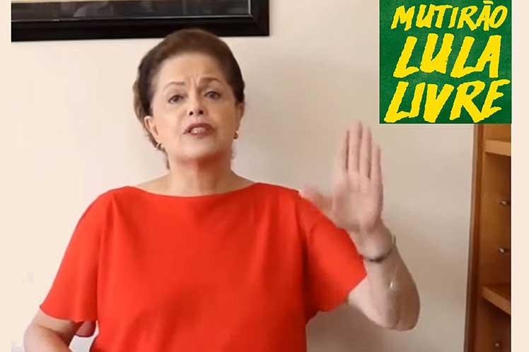 Expresidenta Dilma Rousseff Foto: Prensa Latina