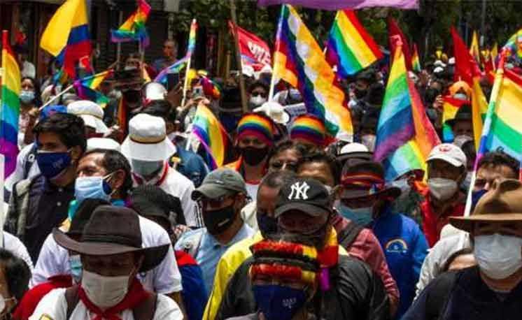 El movimiento político Pachakutik prevé realizar una movilización hoy. Foto: Prensa Latina