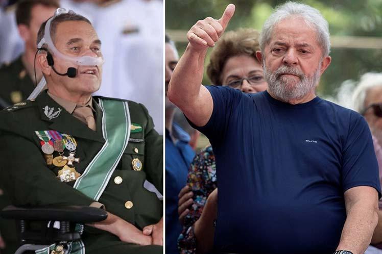 Reconoce ejército apoyo a encarcelación de Lula en 2018.