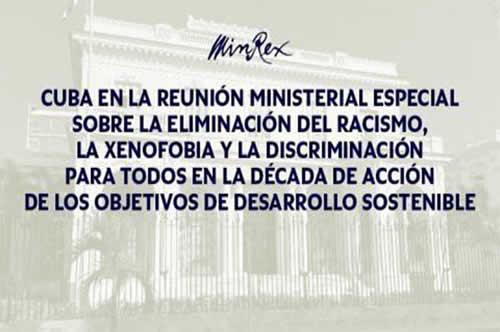 Cuba participa en reunión internacional sobre temas de discriminación