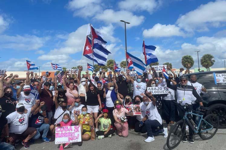 Amigos de Cuba en Estados Unidos y Canadá exigen fin del bloqueo.