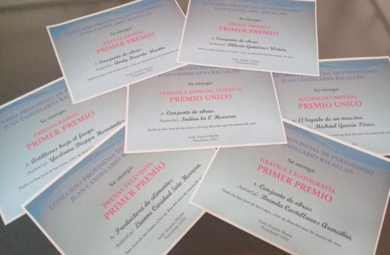 Dan a conocer premios del Concurso Provincial de Periodismo Juan Candelario Bacallao (Infografía)