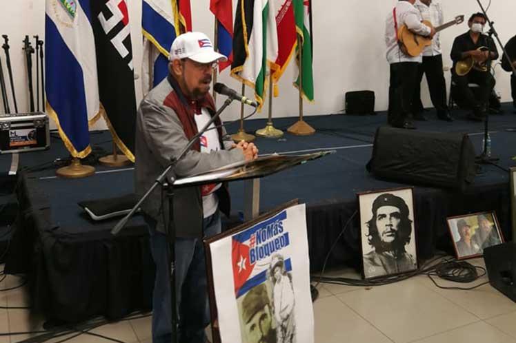 Edwin Castro ratificó el apoyo de Nicaragua a Cuba.