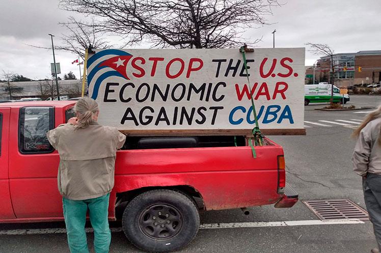 En Toronto, Montreal, Ottawa, Vancouver, Victoria, Calgary y Winnipeg, acciones contra el bloqueo económico a Cuba.